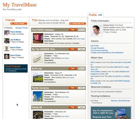 the Social Trip Planner