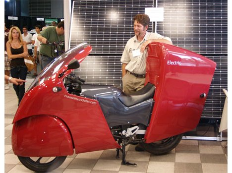 Solar Motorcycle Is Large