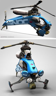 Single Seat Helicopter Concept