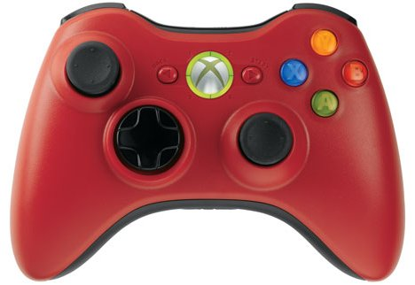 Xbox 360 Wireless Controller In Red