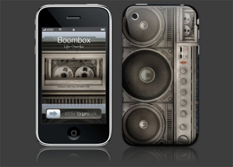 Skin Boombox Pour Le iPhone