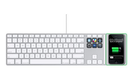 Apple Keyboard Concept Holds iPod/iPhone