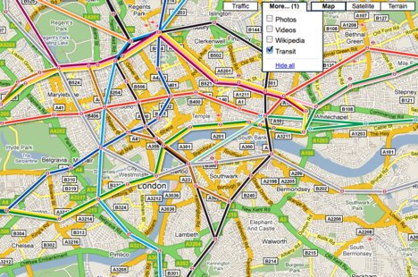 Google Adds Transit Layer To Maps