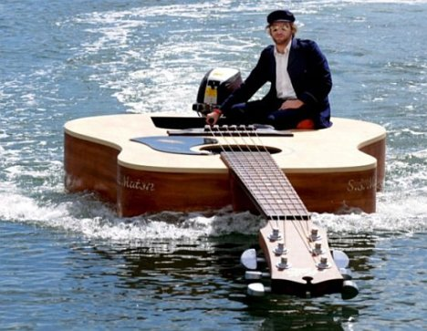 Guitar Boat Up For Auction