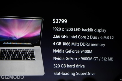 Apple Introduces New 17-inch Macbook. 8hrs Battery, A bit thinner.