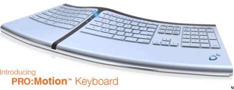 Pro-Motion Keyboard Claims to Eliminate the Carpel Tunnel Syndrome