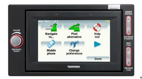 Le GPS TomTom Go I-90 in-dash supporte les iPods
