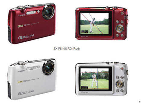 Casio Exilim EX-FS10 helps with your swing