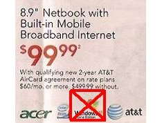 AT&T To Offer $99 Netbook