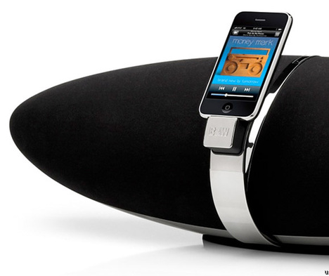 Le iPhone 3GS Est Supporté Par Bowers & Wilkins Zeppelin