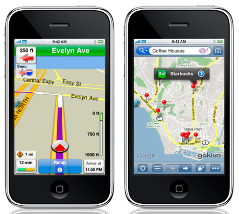 Gokivo: Yahoo! Et Application De Navigation NIM Pour Le iPhone