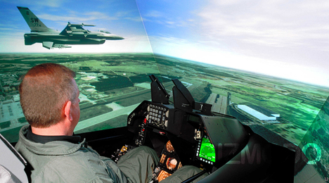 Military F-16 Simulator Maxes Out On Graphics Cards