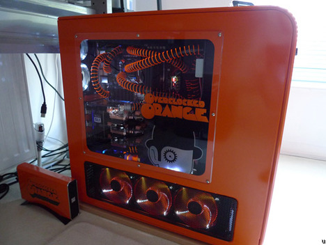 Boîtier PC Mod Overclocked Orange