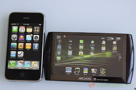 Archos 5 Internet Tablet and Iphone