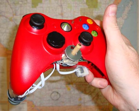 One-handed Xbox 360 controller