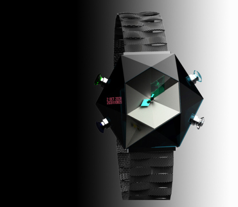Montre au look futuriste 2Oct2031