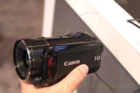 Canon Vixia HF S21 camcorder features dual SD slot, AVCHD to mpeg4 conversion