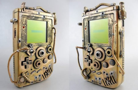 Game Boy en Steampunk Mod