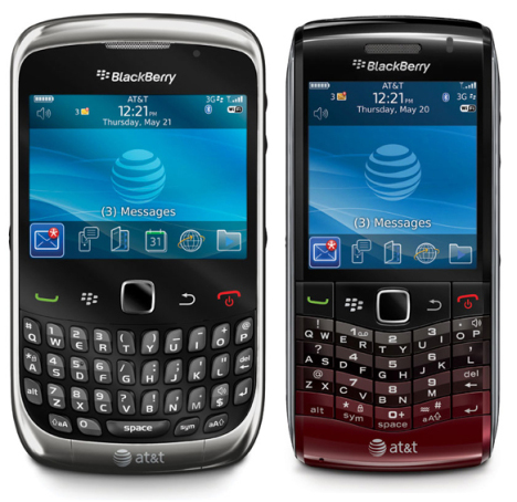 BlackBerry Pearl 9100 And Curve 9300 Now Available On AT&T