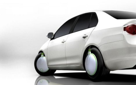 Concept: Green Spinners To Turn Cars Into Eco-friendly Vehicles