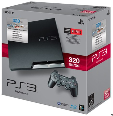320GB PlayStation 3 retails for $350 sans Move