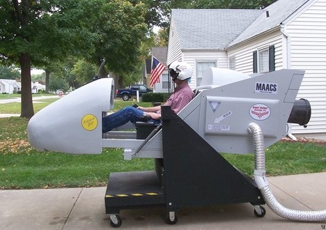DIY flight simulator in the middle of your garden