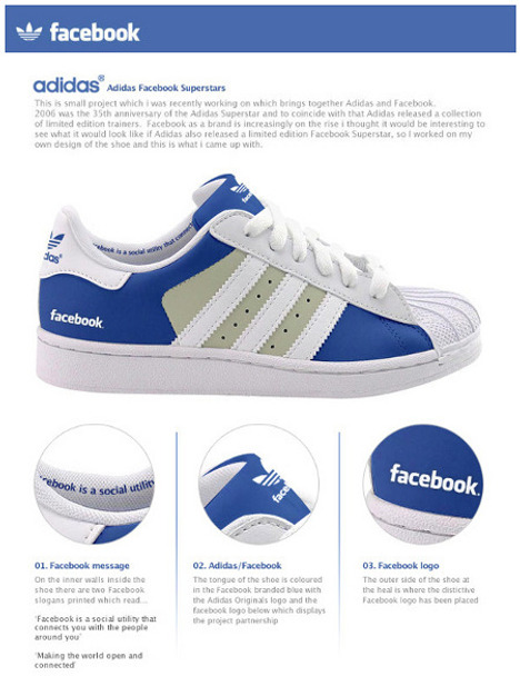 Concept: Facebook And Twitter Shoes