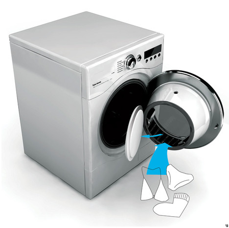 Washing machine features double drum for greater efficiency