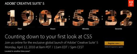 Annonce d'Adobe Creative Suite 5 le 12 Avril 2010