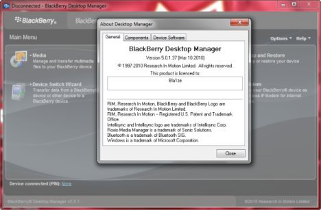 BlackBerry Desktop Manager 5.1.0.37 Is Now Avaialble