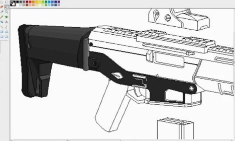 how to draw a assault rifle