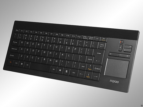 rapoo 2900 touch slim wireless keyboard with touchpad ubergizmo. Black Bedroom Furniture Sets. Home Design Ideas