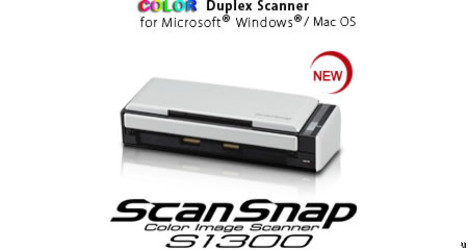 Scanner compact ScanSnap S1300
