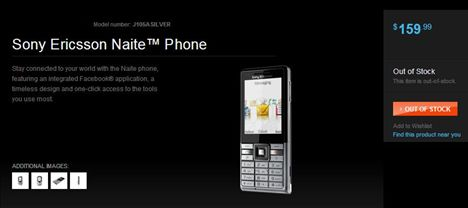 Eco Friendly Sony Ericsson Naite Listed On Sony Style