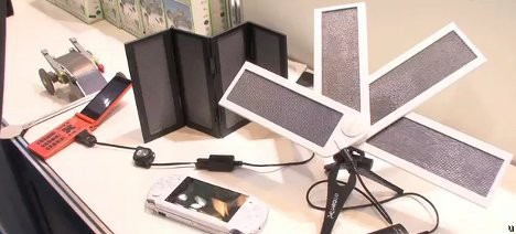 Ambientech SolarFold and SolarFan mobile solar charging systems
