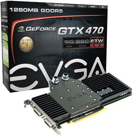 EVGA GeForce GTX 470 Hydro Copper FTW Graphics Card Now Up For Pre-order