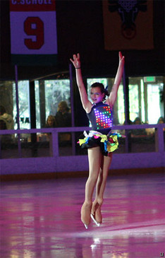 Illuminated figure skating costume