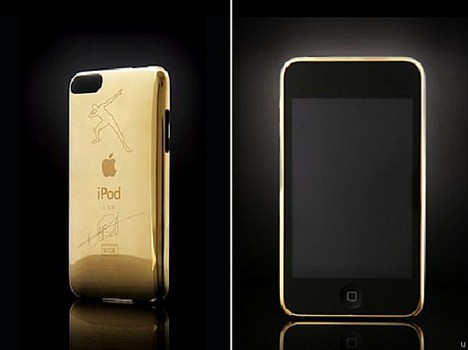 Goldgenie Usain Bolt limited edition signature gold iPod touch