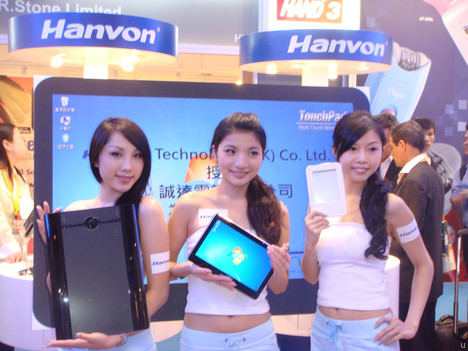 Le tablet PC Hanvon Touchpad a Windows 7