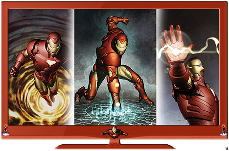 RTC23 officially licensed Marvel Comic LCD and LED HDTVs