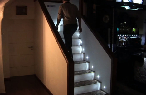 LED Stairs Light Up As You Go