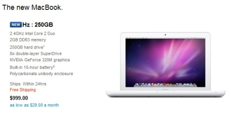 New MacBook Goes Live On Apple's Online Store