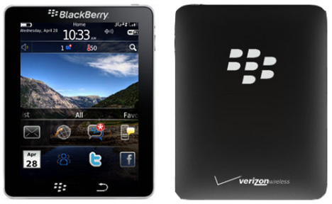 Le tablet BlackBerry arrive en 2011?