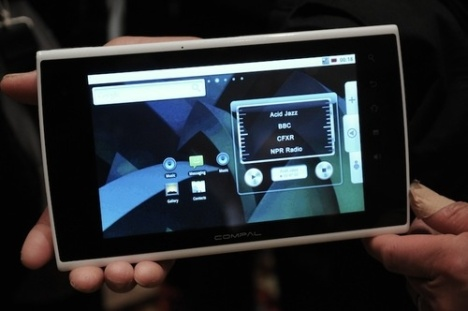 Le tablet Compal 7 sous Android a une puce Tegra 2