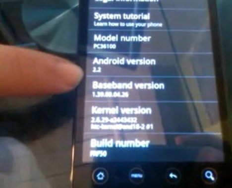 Android 2.2 FroYo Ported To The Upcoming HTC EVO 4G