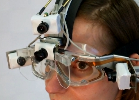 Head Mounted EyeSeeCam Tracks Your Eyes