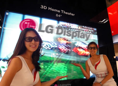 LG Showcases The World's Largest 3D Ultra High Definition Panel