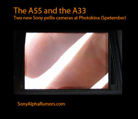 Sony To Announce First Two Pellix A55 And A33 Cameras At Photokina