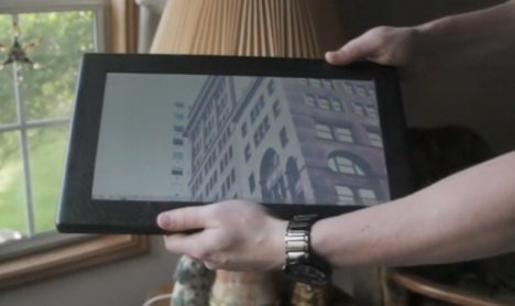 Tablet en fibre de carbone sous Windows 7