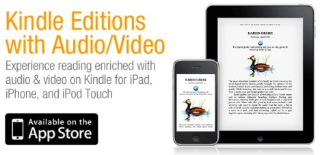 Amazon Announces Video And Audio Support For Kindle iOS App